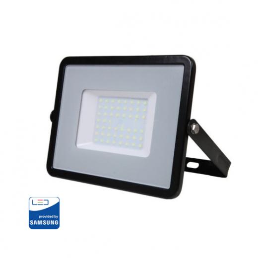 LED Reflektor 50W so SAMSUNG čipom, čierny, Studená biela