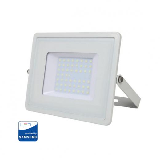 LED Reflektor 50W so SAMSUNG čipom, biely, Denná biela, 4000K, 4000lm
