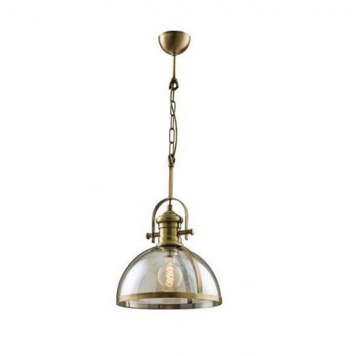 Vintage mohutné závesné svietidlo so skleneným tienidlom. Vyrobené z kvalitného kovového materiálu v kombinácií so skleneným tienidlom (2)