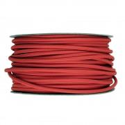 Kábel dvojžilový v podobe textilnej šnúry v tmavo červenej farbe, 2 x 0.75mm, 1 meter