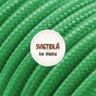 Kábel dvojžilový v podobe textilnej šnúry v tmavo zelenej farbe, 2 x 0.75mm, 1 meter (1)