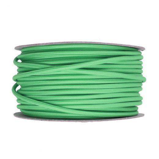 Kábel dvojžilový v podobe textilnej šnúry v tmavo zelenej farbe, 2 x 0.75mm, 1 meter (2)