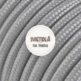Kábel dvojžilový v podobe textilnej šnúry vo svetlo šedej farbe, 2 x 0.75mm, 1 meter