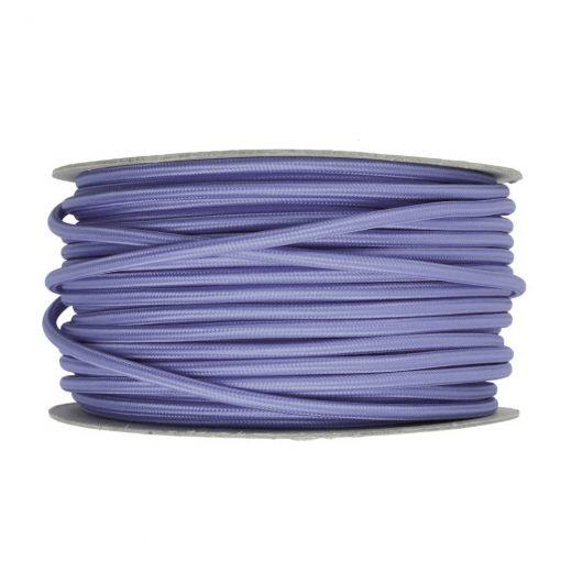 Kábel dvojžilový v podobe textilnej šnúry vo svetlo fialovej farbe, 2 x 0.75mm, 1 meter (1)