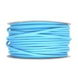 Kábel dvojžilový v podobe textilnej šnúry vo svetlo modrej farbe, 2 x 0.75mm, 1 meter