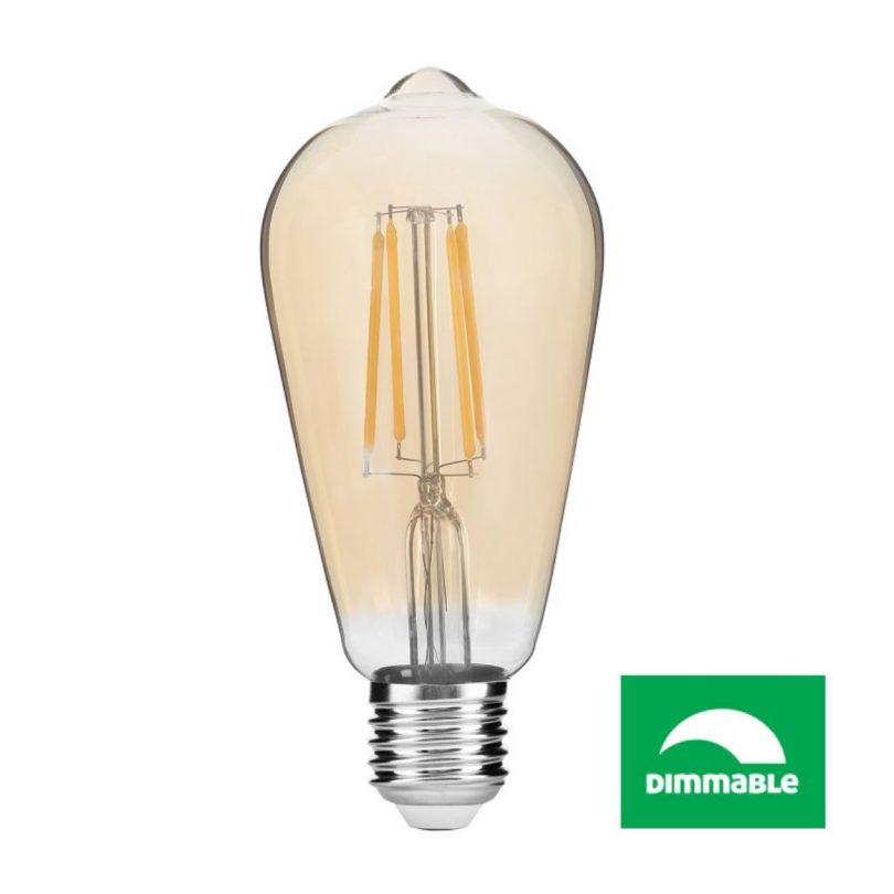 LED Filament žiarovka AVIDE, ST57, 8W, E27, 806lm, Stmevateľná (2)
