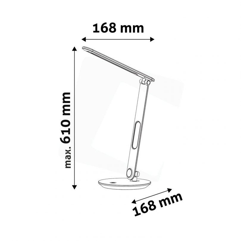 LED Stolová lampa s displejom (kalendár, dátum, čas, teplota), 7W, 500lm (1)
