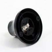 Stropná a nástenná objímka z termoplastu, E27, čierna farba (1)