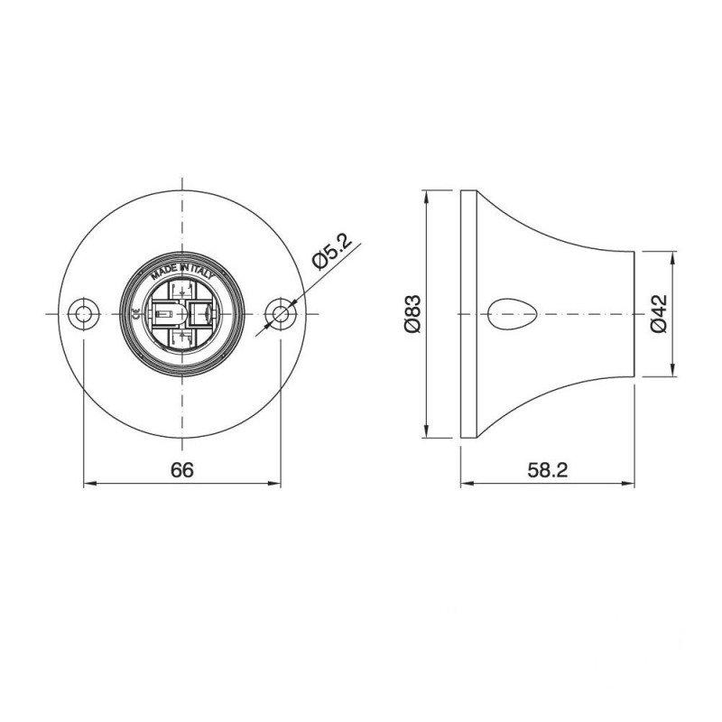 Stropná a nástenná objímka z termoplastu, E27, biela farba (3)