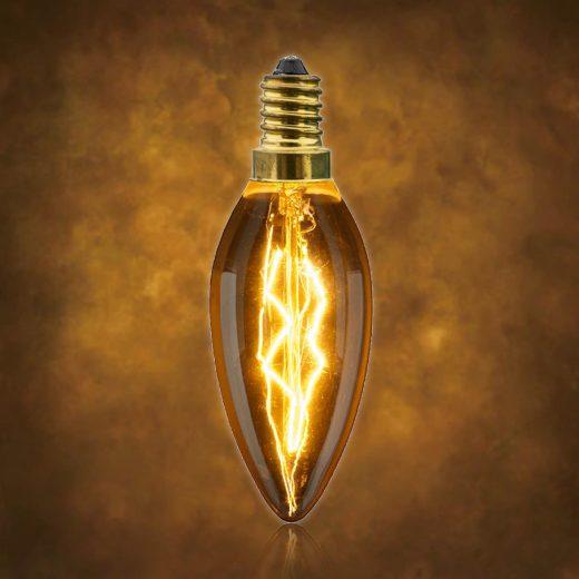 Vintage dekoračná žiarovka v retro štýle, CANDLE, E14, 40W, 140lm (2)