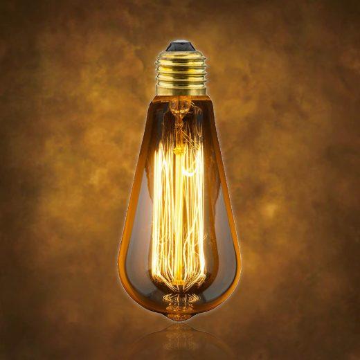 Vintage dekoračná žiarovka v retro štýle, MINI TEARDROP, E27, 40W, 140lm (2)
