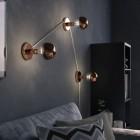 Zrkadlová dekoračná žiarovka 7W, E27, 806lm, SPHERE, Medená, Stmievateľná (3)