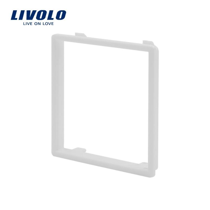 Dekoratívny rámik pre zásuvky a vypínače LIVOLO v bielej farbe