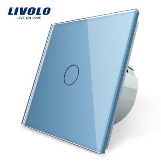 Elegantný dotykový vypínač č.1 v modrom prevedení