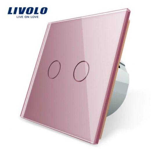 Elegantný dotykový vypínač č.5 v ružovom prevedení
