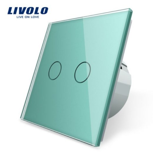 Elegantný dotykový vypínač č.5 v zelenom prevedení