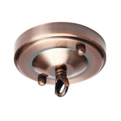 Stropná kovová rozeta na svietidlo • s prstencom (1)