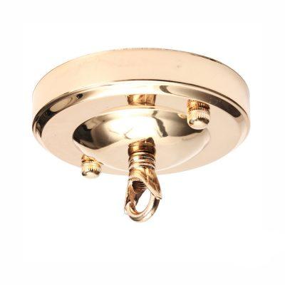 Stropná kovová rozeta na svietidlo • s prstencom (4)