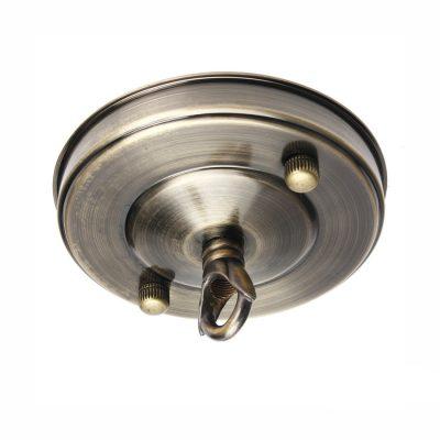Stropná kovová rozeta na svietidlo • s prstencom (6)