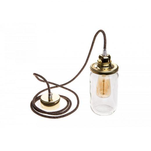 Stropné svietidlo Sklenený pohár HONEY v zlatej farbe (1)