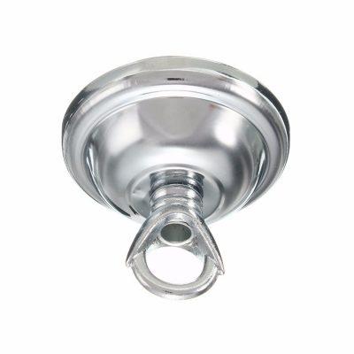 Závesná okrúhla stropná rozeta s prstencom • kovová (5)