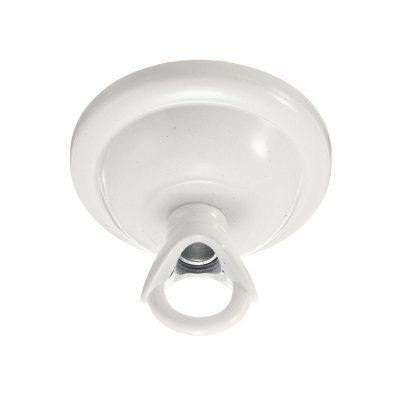 Závesná okrúhla stropná rozeta s prstencom • kovová (7)