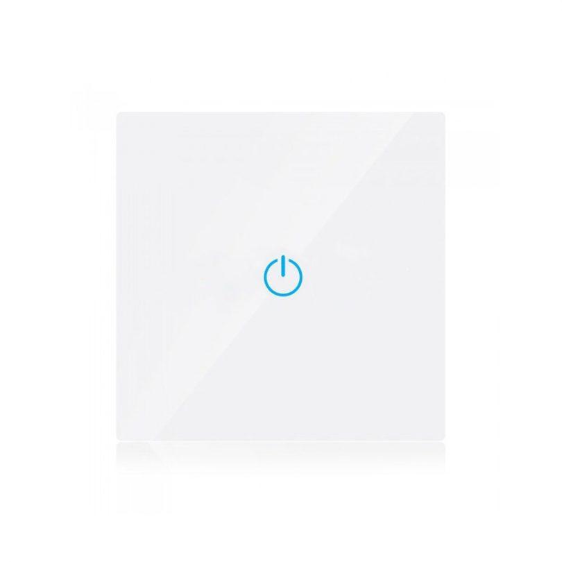 Dotykový SMART vypínač WIFI kompatibilný s AMAZON ALEXA + GOOGLE HOME, 3-tlačidlový, biely