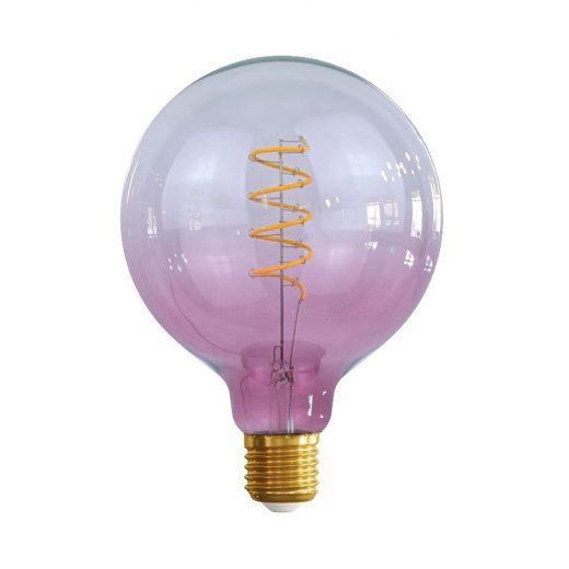 Edison Soft žiarovka PINK-TRANSPARENT SPHERE – E27, 4W, 150lm, Stmievateľná