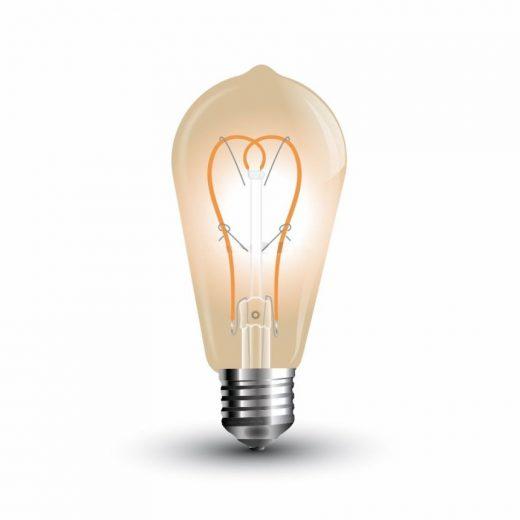 FILAMENT žiarovka - New Teardrop - E27, 5W, 300lm, Teplá biela