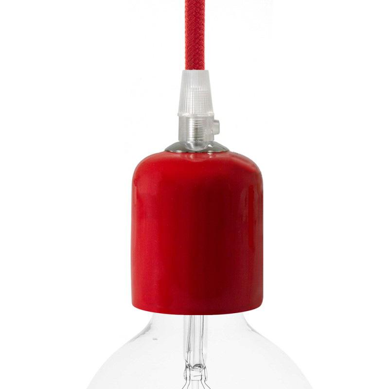 Handmade keramická objímka s príslušenstvom v červenej farbe