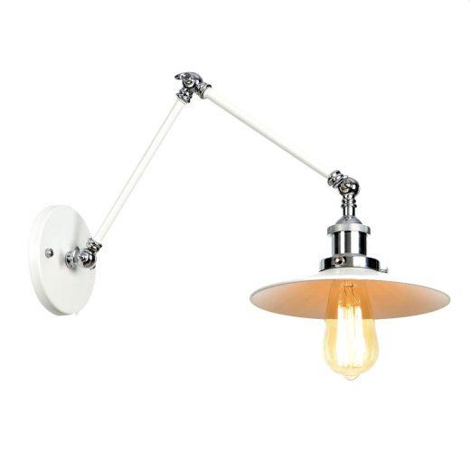 Historická nástenná lampa Alton v bielej farbe