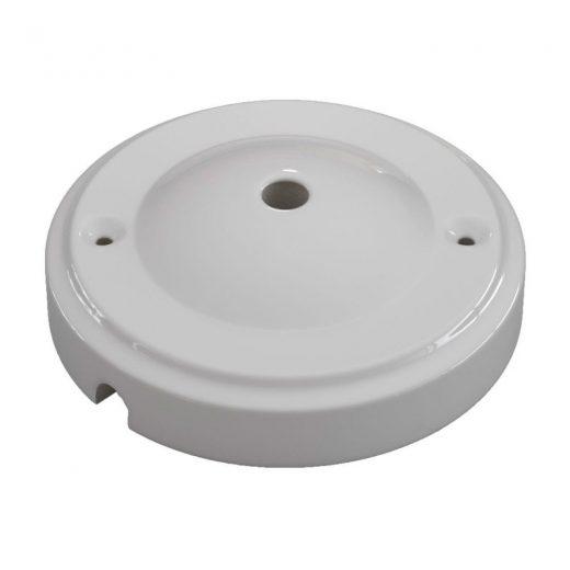 Porcelánová rozeta v modernom dizajne v bielej farbe (1)