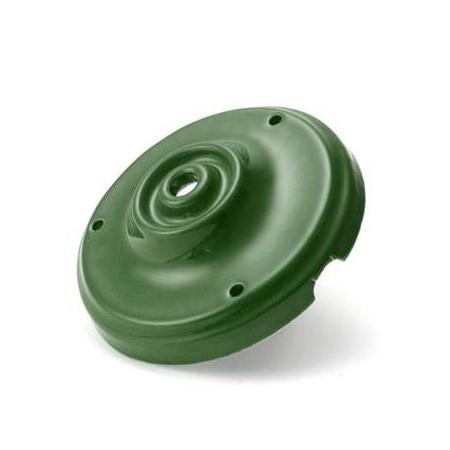 Porcelánová stropná rozeta v zelenej farbe