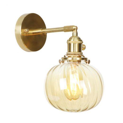 Sklenené nástenné svietidlo GOLD GLOBE v zlatej farbe