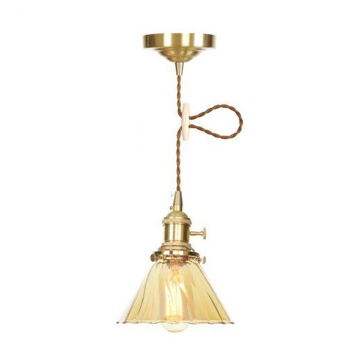 Sklenené svietidlo GOLD DECOR s možnosťou nastavenia výšky kábla.