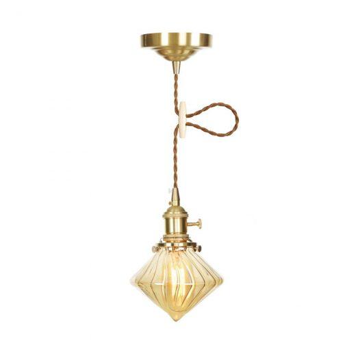 Sklenené svietidlo GOLD DIAMOND s možnosťou nastavenia výšky kábla