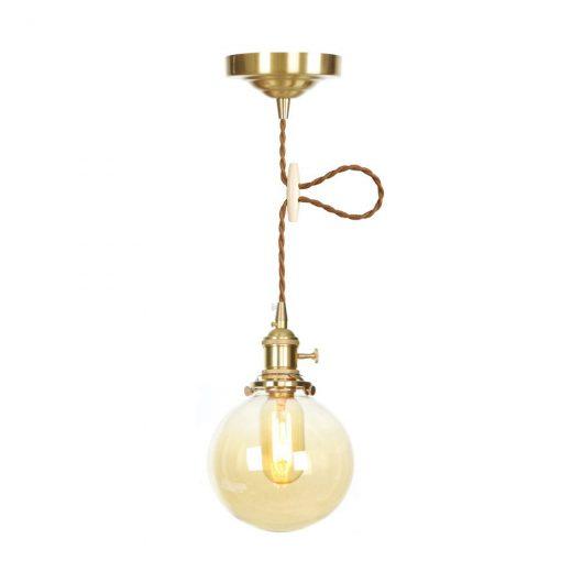 Sklenené svietidlo GOLD MOON s možnosťou nastavenia výšky kábla