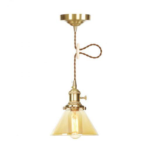 Sklenené svietidlo GOLD SIMPLE s možnosťou nastavenia výšky kábla