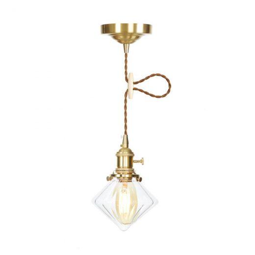 Sklenené svietidlo TRANSPARENT DIAMOND s možnosťou nastavenia výšky kábla