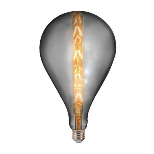 Umelecká žiarovka XXL BEAUTY, dymová - 8W, E27, 240lm, Teplá biela