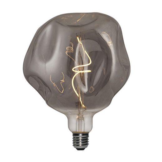 Vintage Filament žiarovka LUXURY, dymová - 5W, E27, 150lm, Stmievateľná, Teplá biela
