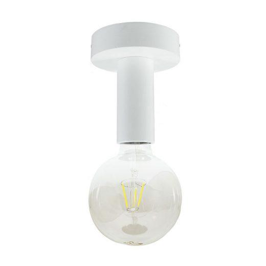 Drevené svietidlo na stenu alebo strop v bielej farbe