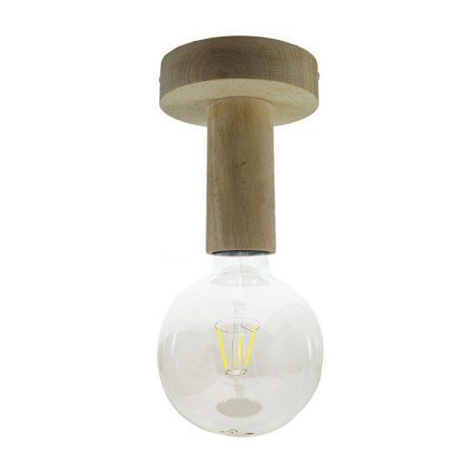 Drevené svietidlo na stenu alebo strop v prírodnej farbe