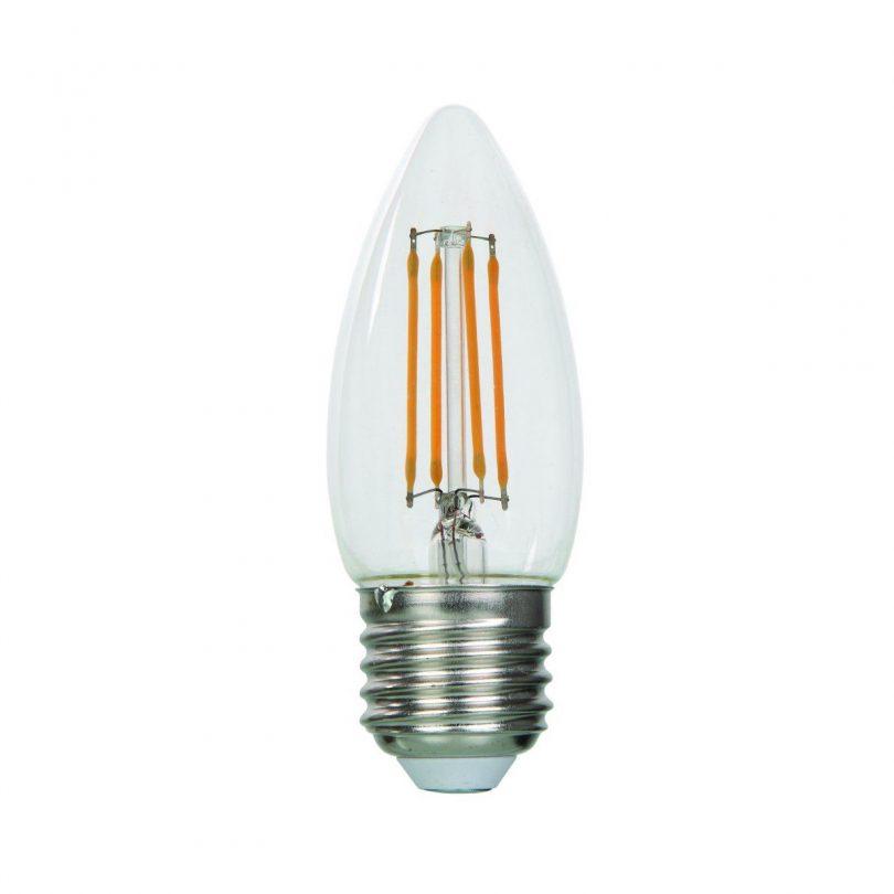 FILAMENT žiarovka - NEW CANDLE - E27, 4W, 470lm