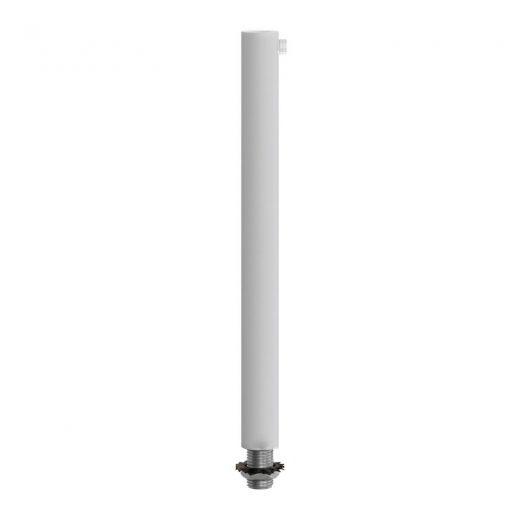 Kovový zámok na odľahčenie kábla 15cm • samica • biela farba