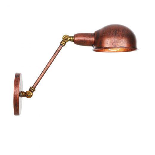 Retro nástenná lampa Side20 v staro medenej farbe
