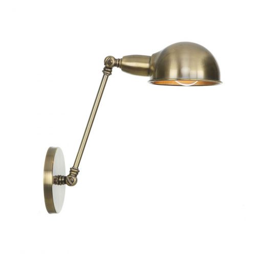 Retro nástenná lampa Side20 v staromosádznej farbe
