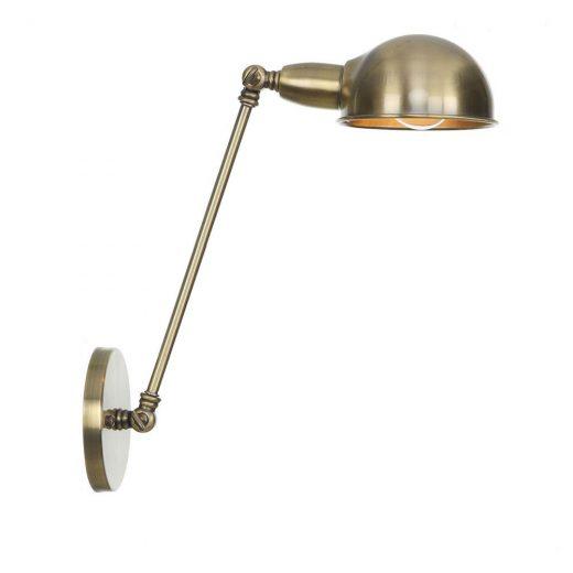 Retro nástenná lampa Side30 v čiernej farbe