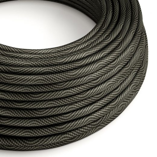 Textilný kábel Optical Vertigo - čierna:šedá, 2 x 0.75mm, 1 meter