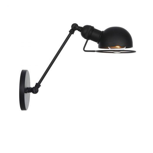 Vintage nástenná lampa Masel20 v čiernej farbe